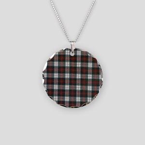 Flip Flop Flannel Necklace Circle Charm