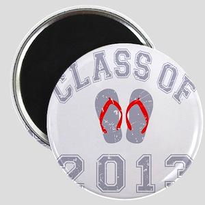 Class Of 2013 Flip Flop Grey-Red 2 D Magnet