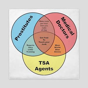 TSA Prostitutes Doctors Queen Duvet