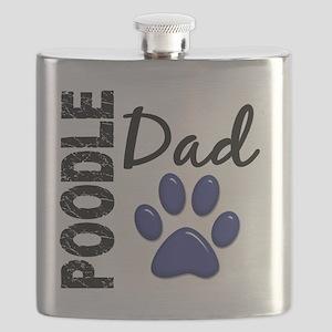 D Poodle Dad 2 Flask