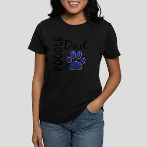 D Poodle Dad 2 Women's Dark T-Shirt