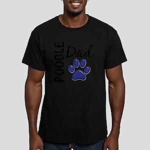 D Poodle Dad 2 Men's Fitted T-Shirt (dark)