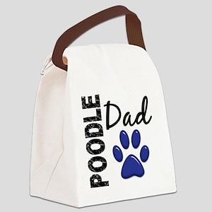 D Poodle Dad 2 Canvas Lunch Bag