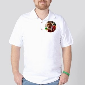 Ornament_Round_Holly_1 Golf Shirt