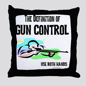 GunControl Throw Pillow