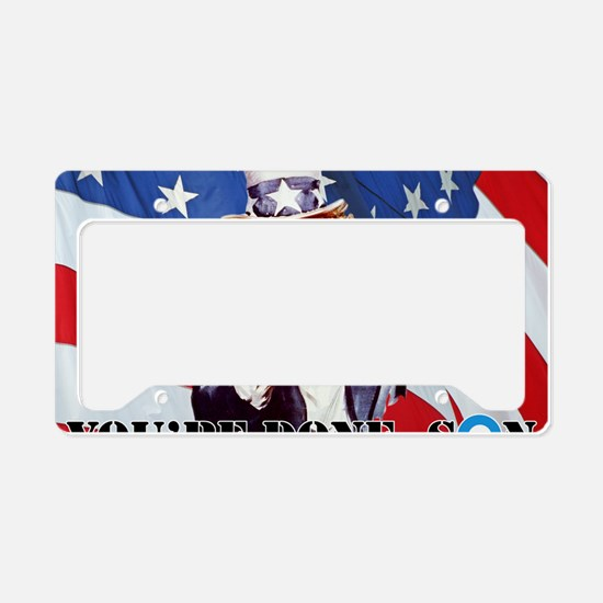 UNCLE SAM DONE IN ONE YS License Plate Holder