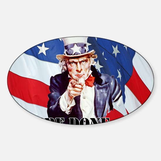 UNCLE SAM DONE IN ONE YS Sticker (Oval)