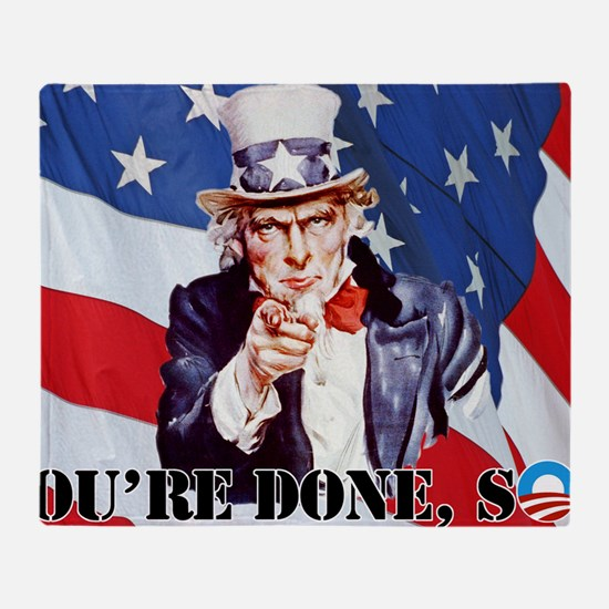 UNCLE SAM DONE IN ONE YS Throw Blanket