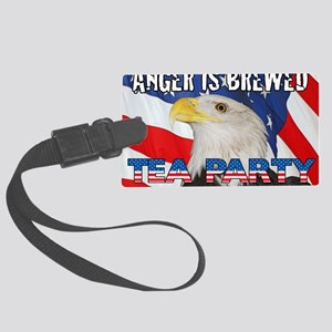 EAGLE FLAG ANGER IS BREWED Large Luggage Tag