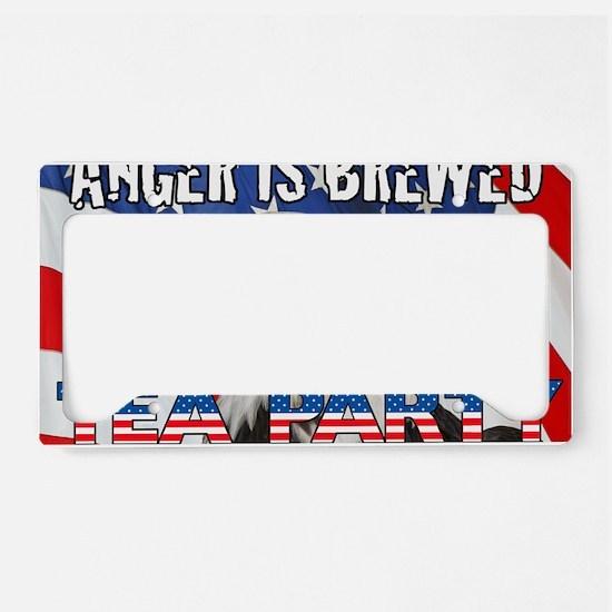 EAGLE FLAG ANGER IS BREWED License Plate Holder