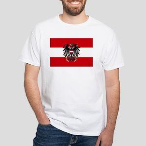 Austria w/ coat of arms White T-Shirt