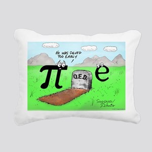 Pi_72 QED Gravestone (6. Rectangular Canvas Pillow