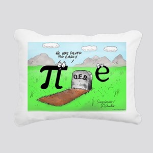 Pi_72 QED Gravestone (7. Rectangular Canvas Pillow