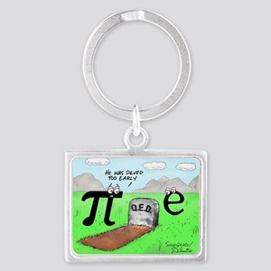 Pi_72 QED Gravestone (10x10 Col Landscape Keychain