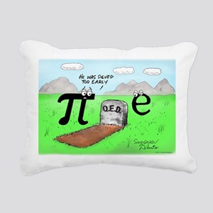 Pi_72 QED Gravestone (10 Rectangular Canvas Pillow