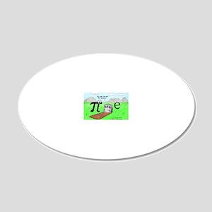 Pi_72 QED Gravestone (10x10  20x12 Oval Wall Decal