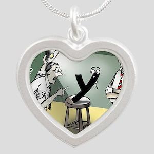 Pi_79 Interrogation (20x16 C Silver Heart Necklace