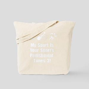 Triathlon Punishment Times 3 White Tote Bag