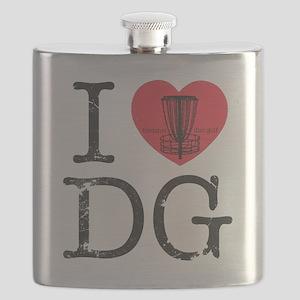 I Heart DG Flask