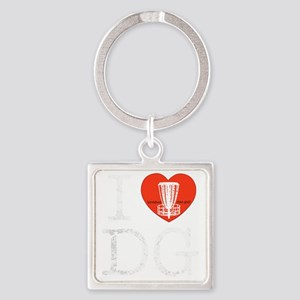 I Heart DG dark Square Keychain