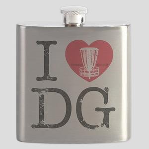 I Heart DG2 Flask