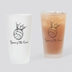 vball queen Drinking Glass