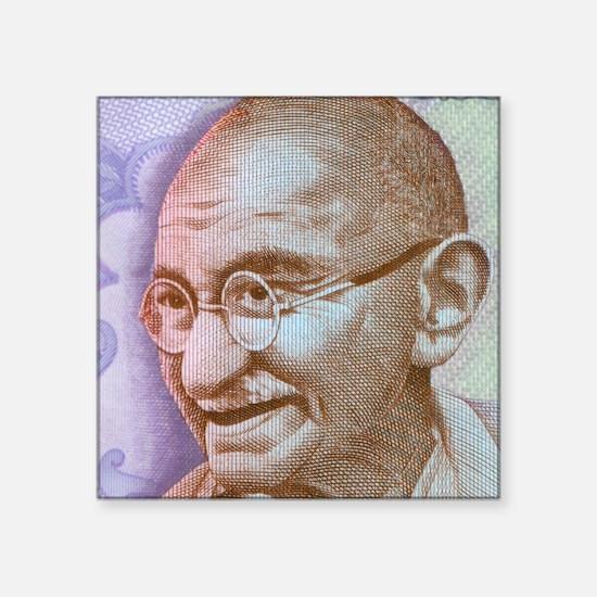 "Gandhi Square Sticker 3"" x 3"""