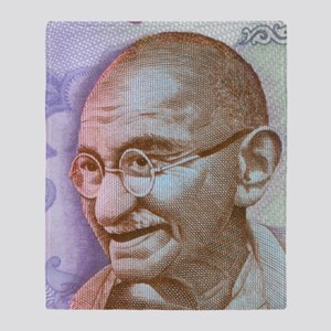 Gandhi Throw Blanket