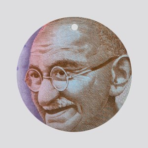 Gandhi Round Ornament