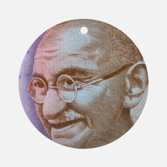 Gandhi Round Ornament