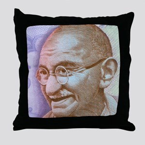 Gandhi Throw Pillow