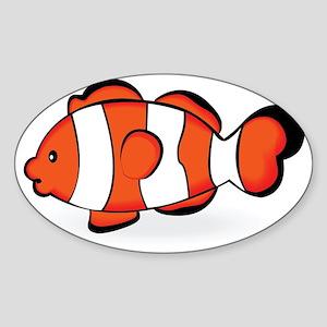 Kozzi-clown-fish-7000x4172 Sticker (Oval)
