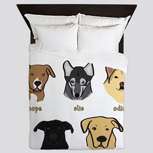 The Grand Dogs - Square Queen Duvet