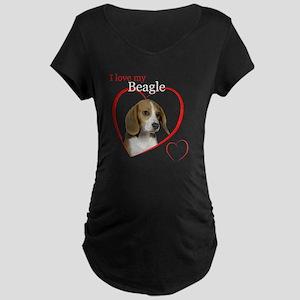 BeagleLoveDark Maternity Dark T-Shirt