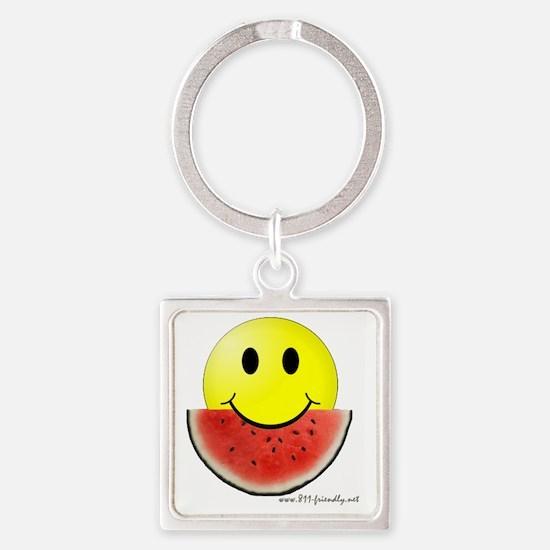 smileywatermelon811friendly big.gi Square Keychain