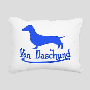 von daschund blue Rectangular Canvas Pillow