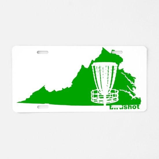 Virginia Disc Golf Basket Aluminum License Plate