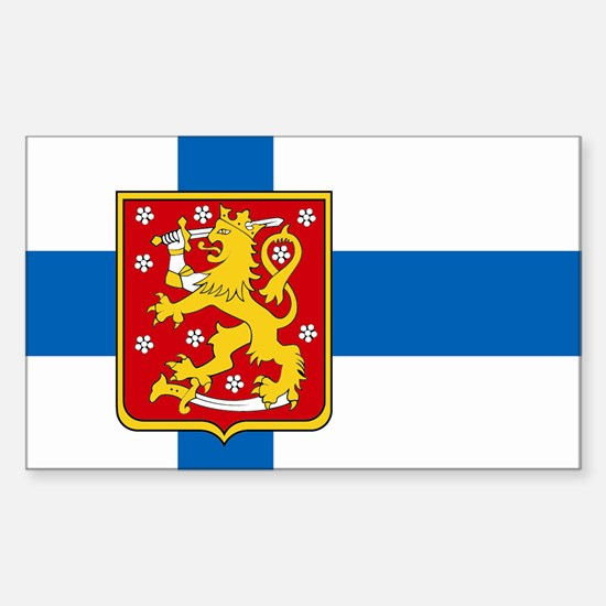 Finland w/ coat of arms Rectangle Decal