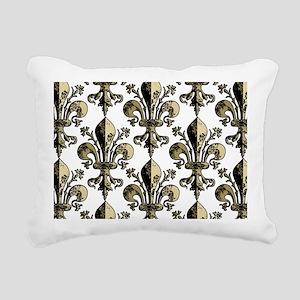 AntiqFleurGPtrBeBag Rectangular Canvas Pillow