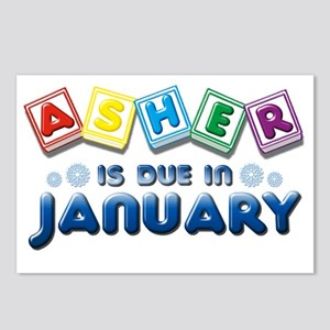 Asher in Due in January Postcards (Package of 8)