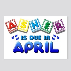 Asher in Due in April Postcards (Package of 8)