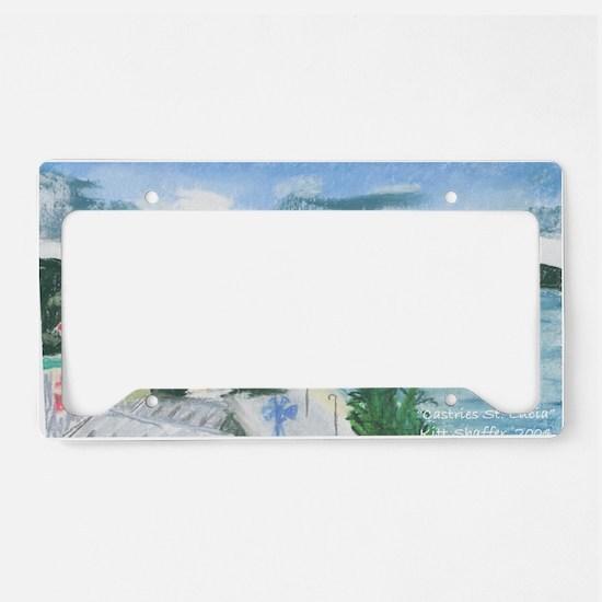 Castries St Luciaf License Plate Holder
