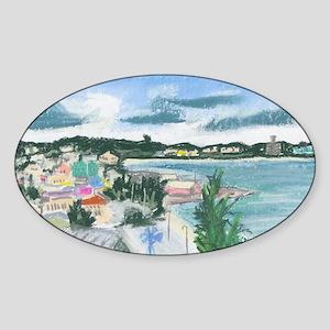 Castries St Luciaf Sticker (Oval)