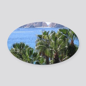 Cabo Oval Car Magnet