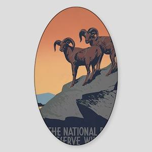 national_parks_preserve_wildlife Sticker (Oval)