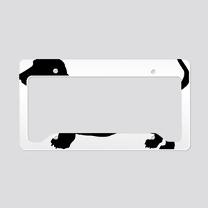 Bassett-Hound License Plate Holder