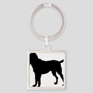 bloodhound Square Keychain
