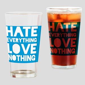 hatelove_cyan Drinking Glass