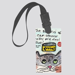 The Cat Speaks 1 Large Luggage Tag