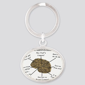 atlas of a Phlebotomists brain Oval Keychain